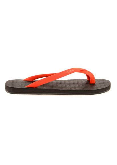 Dan Ward Flip Flops with Red Straps and Black Rubber Soles