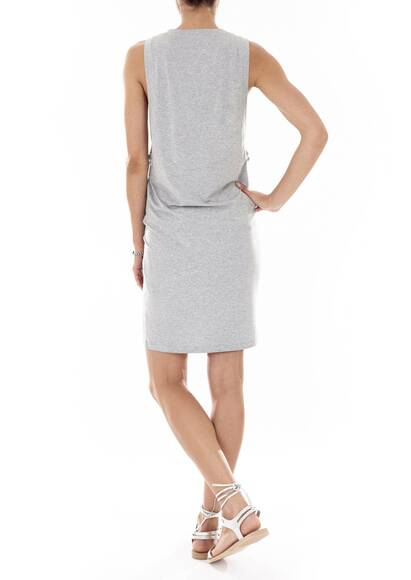 Marysia Heather grey T-Shirt Dress printed 'Trompe l'Oeil'