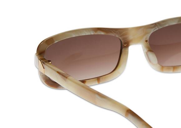 Y/PROJECT X Linda Farrow 6 RECTANGULAR Sunglasses In Yellow Gold Tone