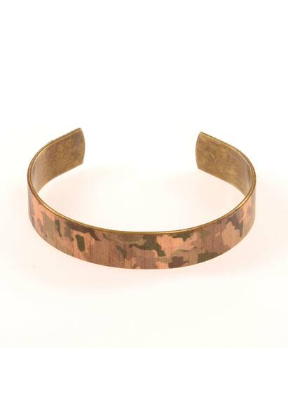 Wood'd Camouflage Bracelet Made of Wood and Brass
