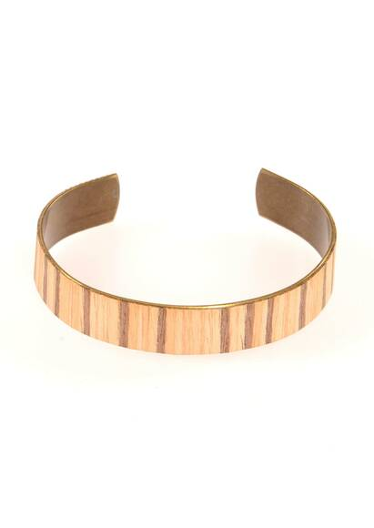 Wood'd Zebrawood Bracelet Made of Wood and Brass
