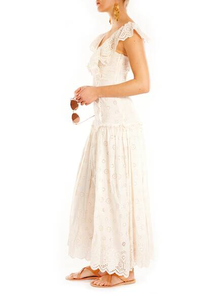 LoveShackFancy Cressida Maxi Kleid