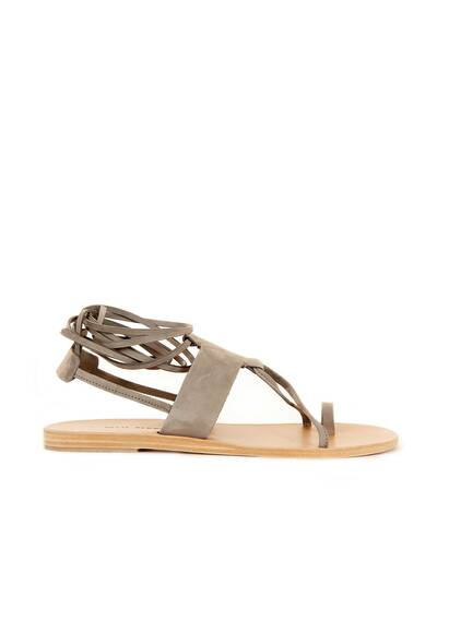 Valia Gabriel Maho Leather Sandals Light Grey
