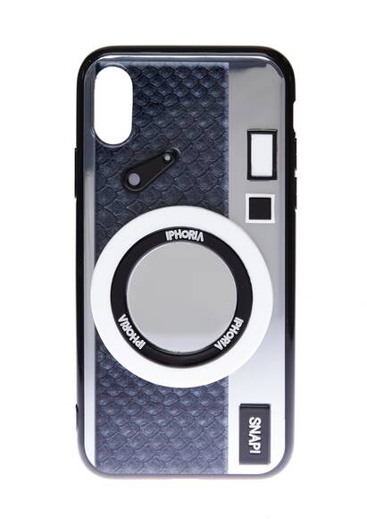 Iphoria I-Phone X Case – Camera Silver with Mirror for Apple