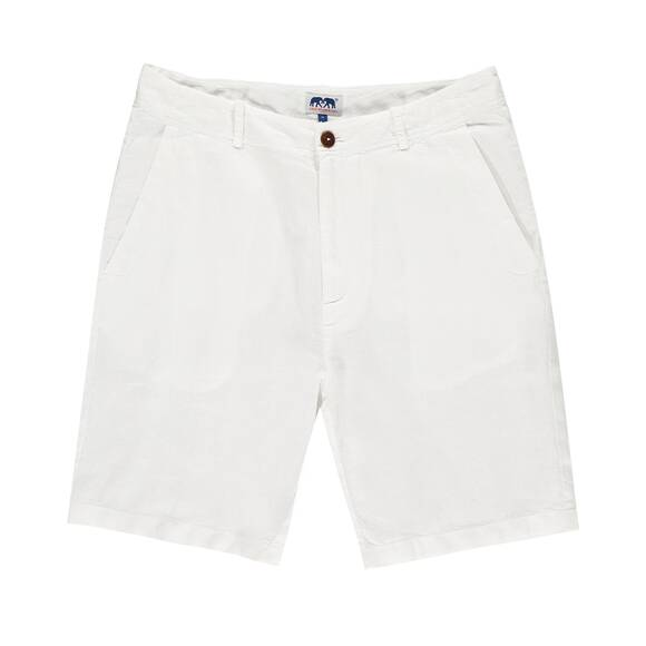 Burrow Leinen Shorts, White