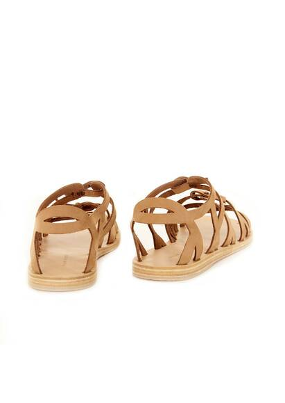 Valia Gabriel Trinity Leather Sandals Cumin