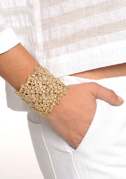 Ambre & Louise Daisy Clover bracelet, gold plated, 18-carat gold Yellow gold