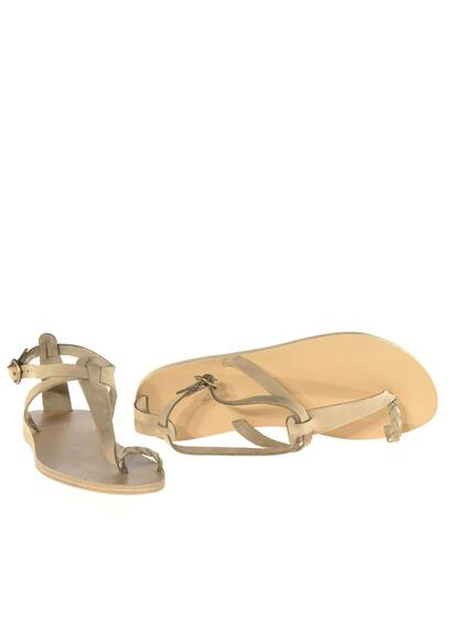 Valia Gabriel Lorient Leather Sandals Khaki/Beige