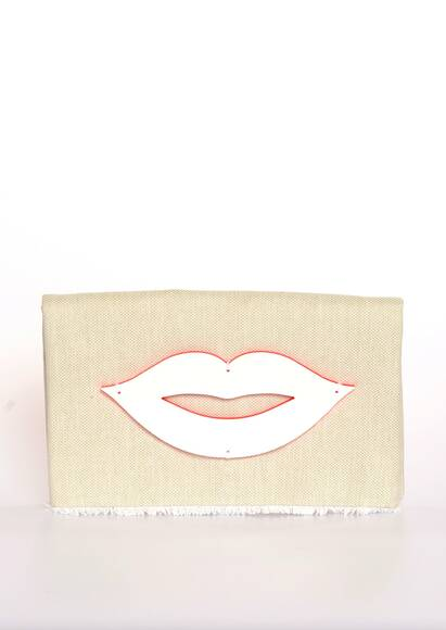 KOKU Clutch Handbag Vivia in Off-White
