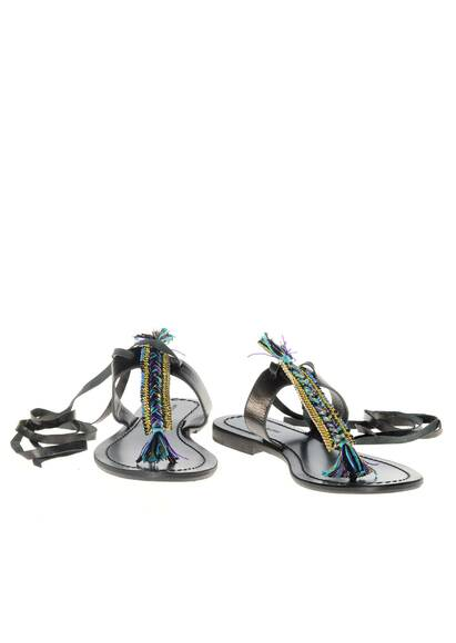 Antik Batik Sandals Black in Leather
