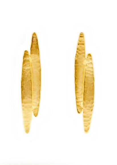 Ambre & Louise Earrings Golden Koyo, gold-plated, 18-carat gold Yellow gold