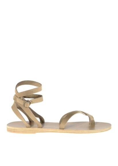 Valia Gabriel Malabar Leather Sandals Khaki/Beige