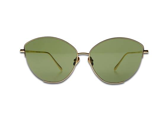 ELLA CAT EYE Sunglasses in Yellow Gold