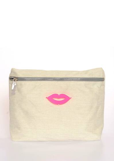 Beauty/Cosmetic Bag Tatiana in Off-White