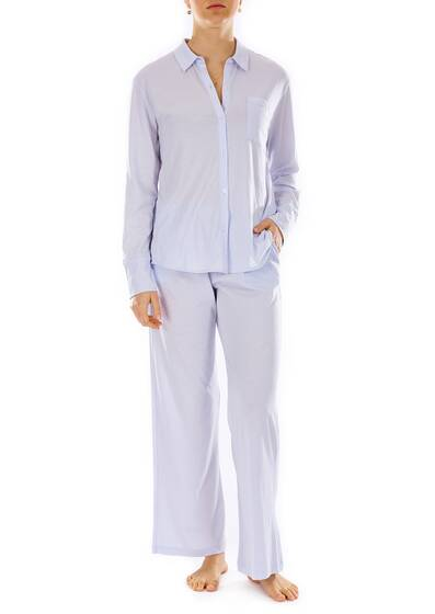 Krista PJ Top, shine blue