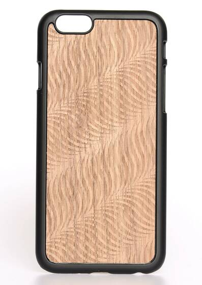iPhone 6-Hülle aus Holz Wave-Black Wood