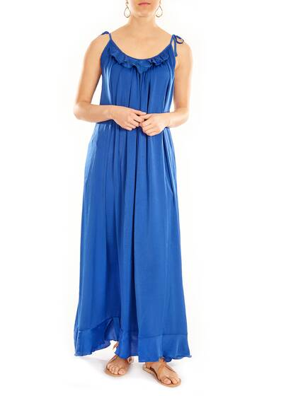 Olivia Boho Kleid, royal blue