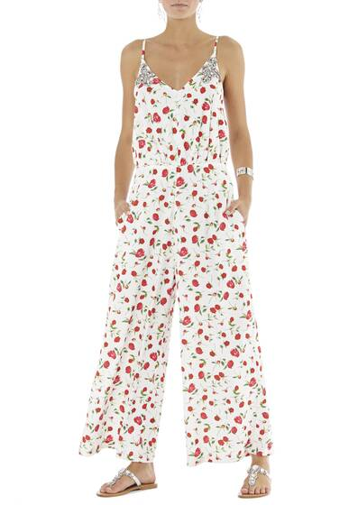 Jumpsuit Violetta Printed in Off-White