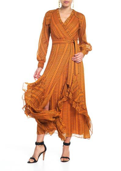 Mercy Wickel Kleid, orange
