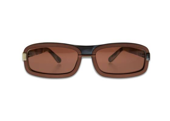 6 RECTANGUAR Sunglasses in Brown - Y/Project x Linda Farrow