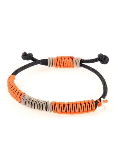 Bracelet Braided with Orange Cord