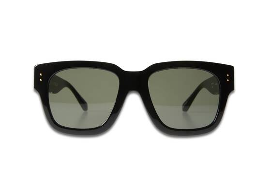 AMBER D-FRAME Sunglasses In Black