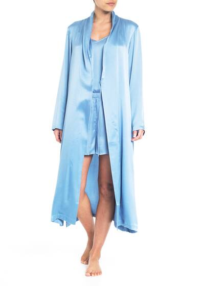 Bathrobe, periwinkle