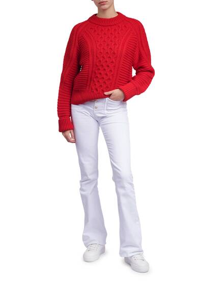 Knitted Pullover, red