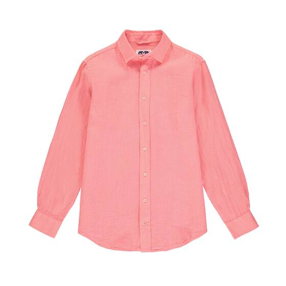 Abaco Linen Shirt, Watermelon