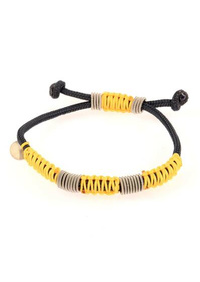 Bracelet Braided with Yellow Cord