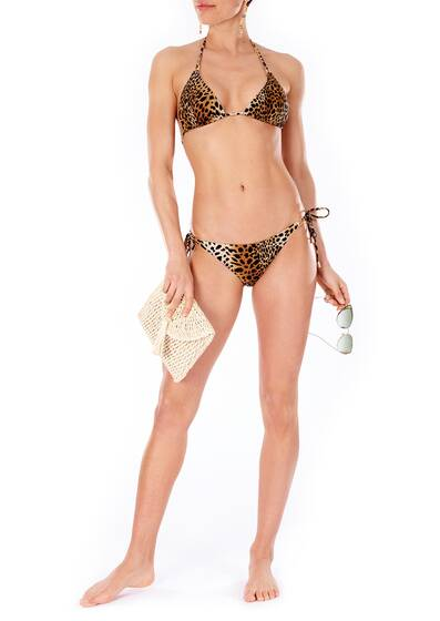 Cancun Triangel-Bikini in Gepardenmuster, leopard