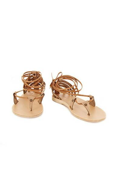 Crosby Leather Sandals Khaki Beige