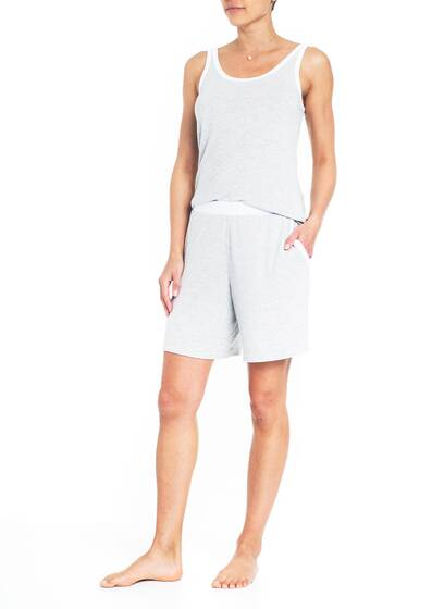 Leslie Tank Top, white/grey