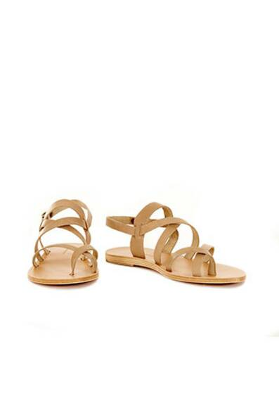 Juno Leather Sandals Olive