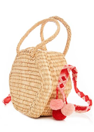 Lana Basket Bag, red