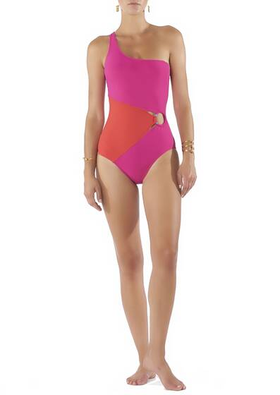 Swimsuit O Ring One Shoulder Classic