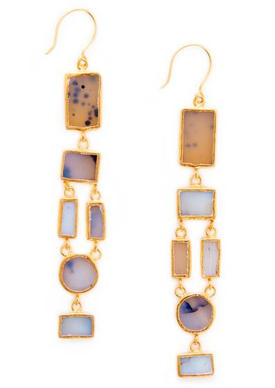 Tamadun Earrings - Agate