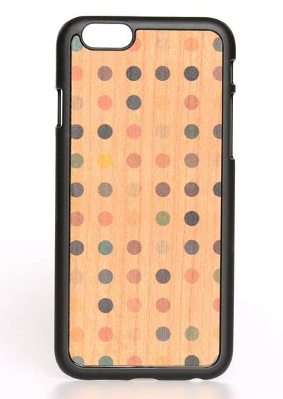iPhone 6-Hülle aus Holz Colored Pois