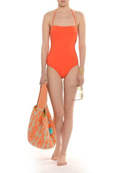 Bahia Colors Bandeau-Badeanzug Orange