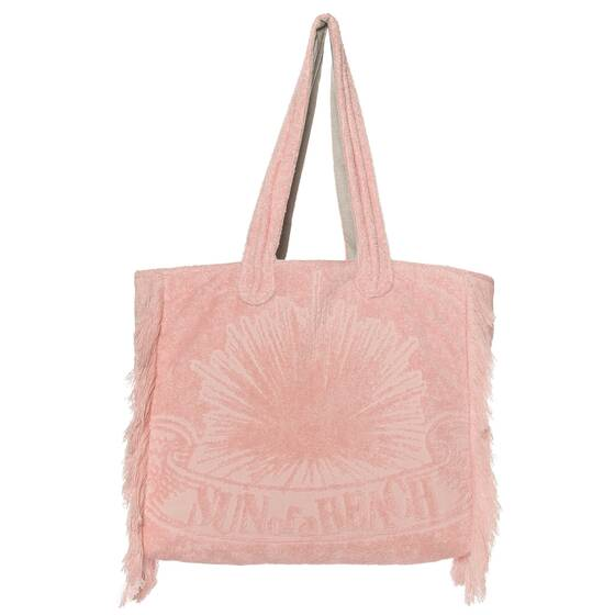 Tote Beach Bag, Just Pink