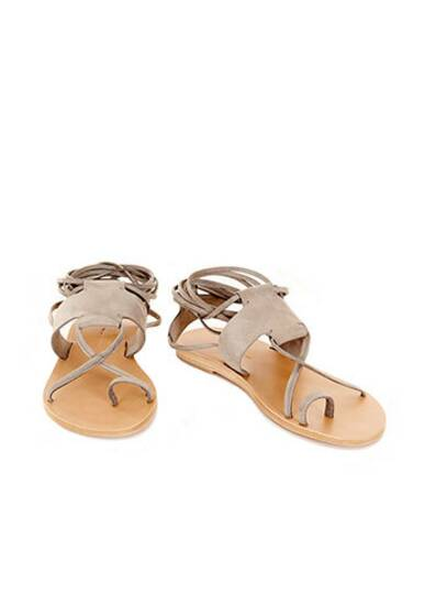 Sandals Maho Ledersandale Light Grey
