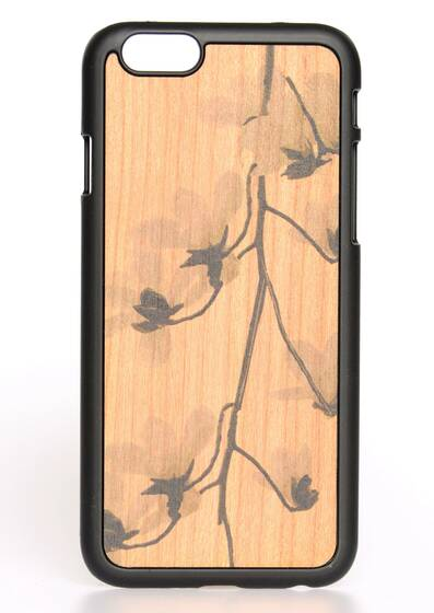 iPhone 6-Hülle aus Holz Cherry Flower