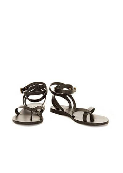 Malabar Leather Sandals Black