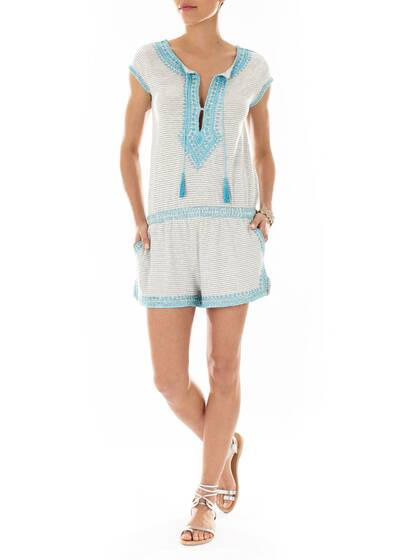 Jumpsuit Embroidered and Striped, Luseli