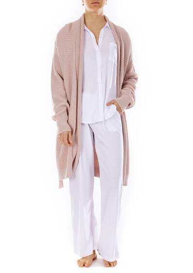 Fiona Wrap Robe Strickjacke, apricot