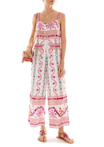 Cotton Tribal Jumpsuit embroidered