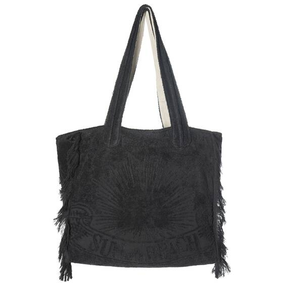 Tote Beach Bag, Just Black