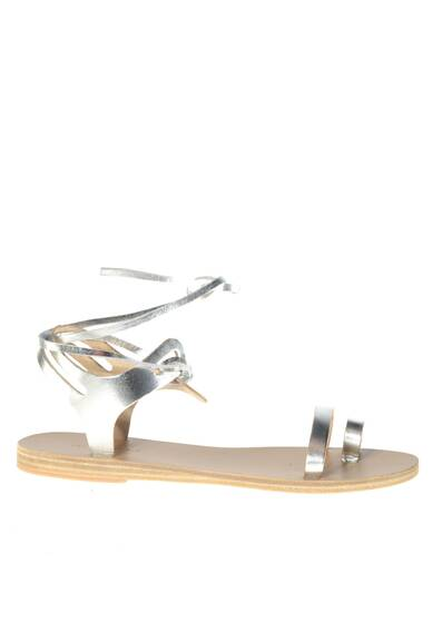 Leblon Leather Sandals Silver