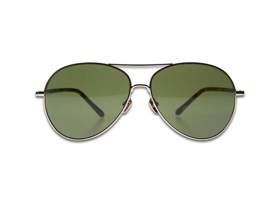 DIABOLO AVIATOR Sunglasses in Yellow Gold