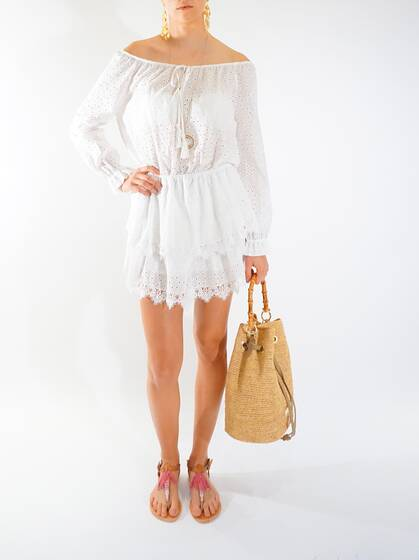 Short Dress White Long Sleeve
